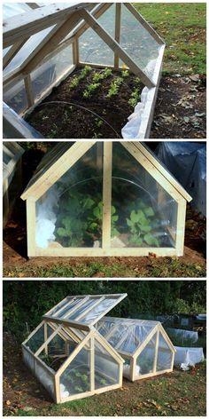 DIY Mini Greenhouse with Roof Panels. #MiniGarden #greenhousefarming