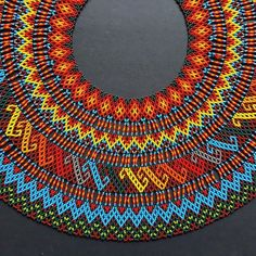 Diy Necklace Patterns, Beaded Crafts, Hair Decorations, Beaded Collar, Hand Painted Furniture, Tribal Necklace, Sleeve Designs, Bead Art, Bead Weaving