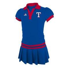 Girls 4-6x Majestic Texas Rangers Polo Dress $12.00