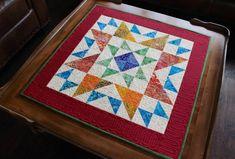 Quilt Pattern - Table Topper - Mini Quilt - Ohio Star - size: 30 x 30 Star Quilts, Mini Quilts, Quilt Blocks, Mini Quilt Patterns, Star Patterns, Quilting Patterns, Horse Quilt, Yo Yo Quilt, Quilted Table Toppers