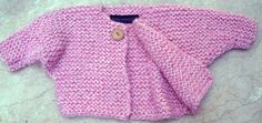 Free Knitting Pattern for Baby Sweater, Toddler to 3T Sweater Pattern | Roll Neck Chunky Easy Knit Cardigan