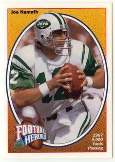 262930d40 Joe Namath   12 - 1991 Upper Deck Football Joe Namath Heroes