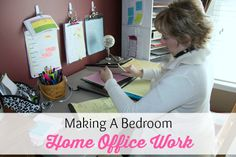 Making A Bedroom Office Work | Organize 365