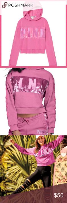 "•Victoria's Secret PINK• Velvet stripe pullover V I C T O R I A 'S ✦ S E C R E T  PINK  ❈ Condition: New in packaging   Super cool and cropped! This pullover is designed with luxe velvet on the chest and and lace-up details on the sleeves.   •Velvet stripe •21""cropped length •Lace-up details on sleeves •Relaxed fit •Imported cotton/polyester/spandex  ❈ Fast shipping Monday⇢Friday  Same/Next day after your purchase  ❈ Questions? Please comment below,  I will be more than happy to assist you ☻…"