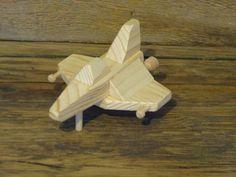Handmade wooden toys jet plane space ship wood toy spaceship air plane airplane boys childs kids bir