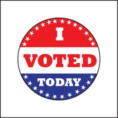 I Voted Today Button – Whimzery