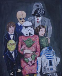 Funny Star Wars family picture.