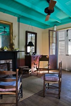 Interior sitting room, Bywater neighborhood, New Orleans, Louisiana