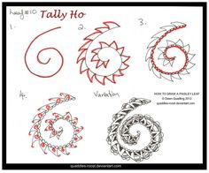 How To draw Leaf 10_Tally Ho_quaddles-roost by Quaddles-Roost