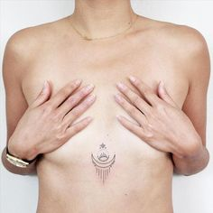 Sternum tattoo by taylorcaklik