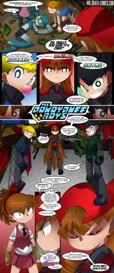 PowerPuff girls Doujinsh chapter 11 page 14 by bleedman SNAFU comics Cartoon Jokes, Cartoon Characters, Cartoons, Powerpuff Girls D, Blossom Bubbles And Buttercup, Ppg And Rrb, Comic Panels, Anime Comics, Anime Couples