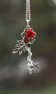 Winter Rose Key Necklace by KeypersCove on Etsy, $30.00 oh maaaan... birthday present please???
