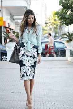 I want pretty: LOOK- Falda Lápiz/ Pencil Skirt Outfits!