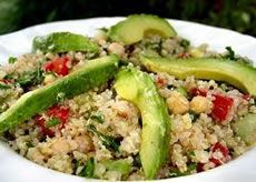 Alkaline Diet Recipe #101: Alkaline Quinoa Salad with Avocado - This is an alkalising quinoa salad with avocado, which is not only healthy but also highly delicious.  The other ingredients which are all alkalising like tomatoes, cucumber, onions, pine nuts, lemon juice and lemon zest, give this salad its lovely flavour and texture.