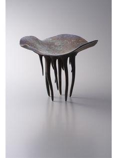 A fantastical creature sculpture from Japanese ceramic artist Yoshihiro Kunikata's series 'Moon Trip.' via lixil.co.jp