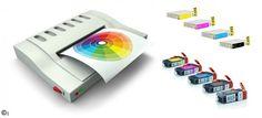 kompatibilní sada náplní pro použití v tiskárnách Canon nebo Epson