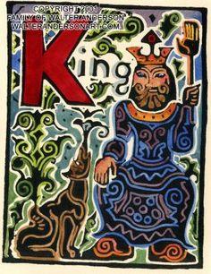 """K King - 5"""" x 7"""""""