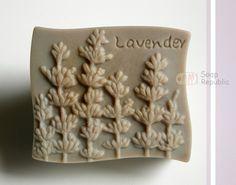 Lavender Silicone Soap Mold ( Soap Republic ). $16.00, via Etsy.