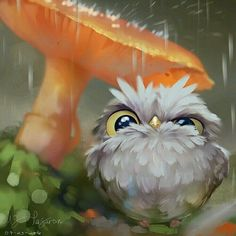 Untitled, MJ Pajaron – Famous Last Words Owl Art, Bird Art, Cute Animal Drawings, Cute Drawings, Cute Illustration, Digital Illustration, Animes Wallpapers, Cute Art, Painting & Drawing