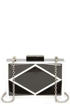Black amp White National Geometric Colorblock Black and Ivory Clutch Handbag    Lulu s  30 Large Handbags d10cd05f9f5a