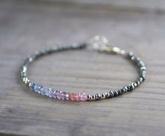 Multicolor Ombre Spinel & Pyrite Gold Filled by EleriaJewelry
