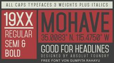 Free Font MohaveTypefaces