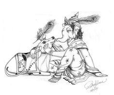 Ganesha Sketch, Lord Shiva Sketch, Ganesha Drawing, Lord Ganesha Paintings, Ganesha Art, Krishna Painting, Ganesh Idol, Indian Traditional Paintings, Indian Art Paintings