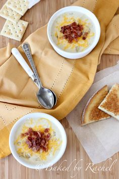 Slow Cooker Loaded Potato Soup - bakedbyrachel.com