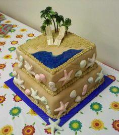 Just Beachy Wedding Shower Cake