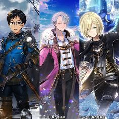 • • •(2/2) Rage of BahamutandYuri!!! On Iceare doing acollaboration, starting Feb 15th! It's a RPG fantasy game (browser game and a mobile game) and it'll be jp server  Game : 神撃のバハムート / Shingeki no Bahamut More information : Dengekionline.com / @ dengekigirls on Twitter #yurionice