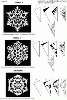 """Consigna:utilizando los pasos correctos del doblado del papel, hacer diferentes cortes, haciendo un ritmo determinado o de módulos, que al abrirse quede una figura calada simulando ser un """"copo de nieve"""". Se puede utilizar hoja de color o blanca, que no sea mas gruesa que la hoja canson de dibujo. Se hacen dos, uno grande (max 30 cm) y otro pequeño (min 15). Pegarlos cuidadosamente en el soporte habitual de Artística."""