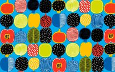Those lovely people are Marimekko post a new free desktop wallpaper every month, and here's some of the best ones. Wallpaper Für Desktop, Wallpaper Computer, Free Wallpaper Backgrounds, 1920x1200 Wallpaper, Macbook Wallpaper, Wallpaper Designs, Marimekko Wallpaper, Fabric Design, Pattern Design