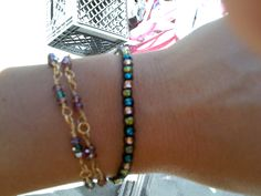 bead and wire wrapped bracelets