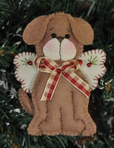 Angel Puppy Ornament