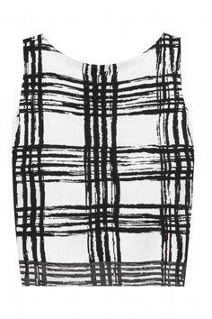 Black and White Windowpane Checks - Spring 2014 Trends Black and White Checks - ELLE Knit Shirt, Crop Shirt, Crop Tank, Tank Tops, Black And White Crop Tops, Black White, Balenciaga Top, New Wave, Designing Women