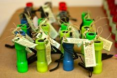 Flashlights for gifts to guests.
