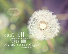 Dandelion With Verse from 1 Peter - 8x10 Photo Print. $20.00, via mindystrauss Etsy.