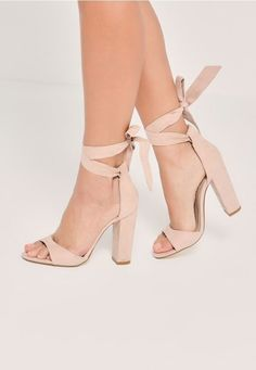 (255) Nude heels are an essential and these curved vamp block heeled sandals are our current obsession! | Prom | Pinterest