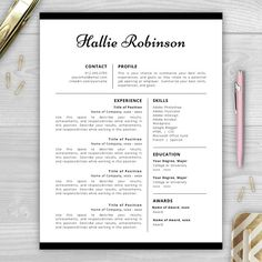 Get more interviews with a professionally designed résumé template…