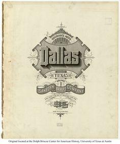 Sanborn Insurance map - Texas - DALLAS - 1905