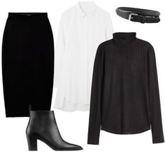 5 Outfit Formulas to Help You Figure Out What to Wear to Work in the Winter - Turtleneck + Tunic + Pencil Skirt - from InStyle.com