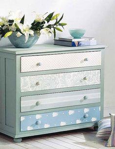 Forrar muebles con papel pintado