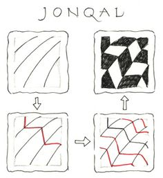 Jonqal instructions Zentangle newsletter January 2008
