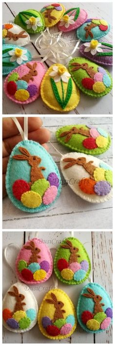 Easter bunny eggs, Felt Easter decoration – felt egg with bunny, Easter decor, felt Easter decor, felt Easter eggs – 1 ornament – craft ideas – DIY ideas Source by jbtenney Easter Projects, Easter Crafts, Easter Decor, Easter Bunny Decorations, Bunny Crafts, Craft Projects, Ornament Crafts, Felt Ornaments, Ornaments Ideas
