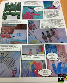 Creating a comic strip (we used Comic Life but could be done with pencil and paper) to summarize non-fiction text.