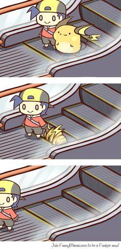 Raichu VS Escalator
