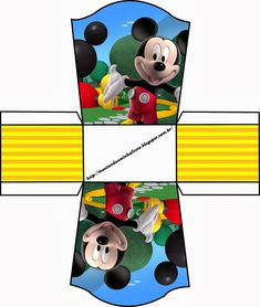 Mickey Clubhouse: Free Printable Party Boxes.