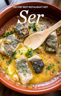 Spanish seafood stew at Ser in Ballston, Virginia, near Washington, DC   Washingtonian    Photo by Andrew Propp