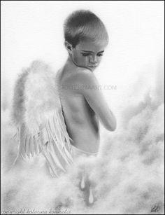 Angel Tears , Katerina Art ,Fantasy and Portraiture art by Katerina Art,The beautiful pencil art by Katerina Koukiotis