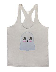 Gabe the Cute Ghost - Halloween Mens String Tank Top